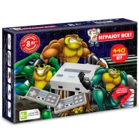 Приставка Dendy Battle Toads 440-in-1( пистолет) Grey